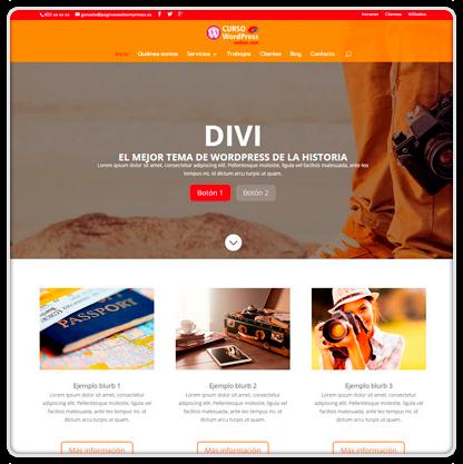 Curso WordPress con Divi (Madrid. Barcelona, Sevilla...)